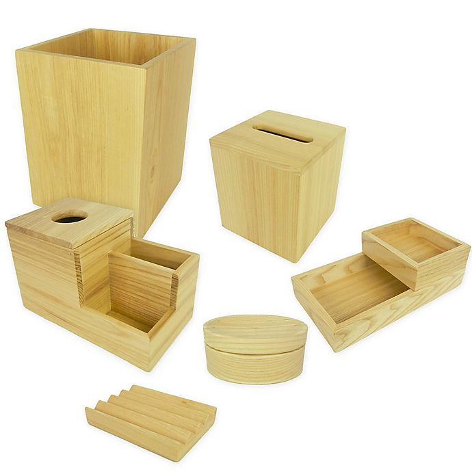 Alternate image 1 for Haven™ Eulo Wood Bath Accessory Collection