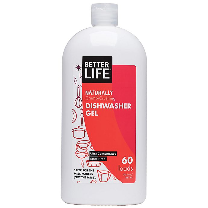 Alternate image 1 for Better Life® Naturally Crumb-Crushing 30 oz. Unscented Dishwasher Gel