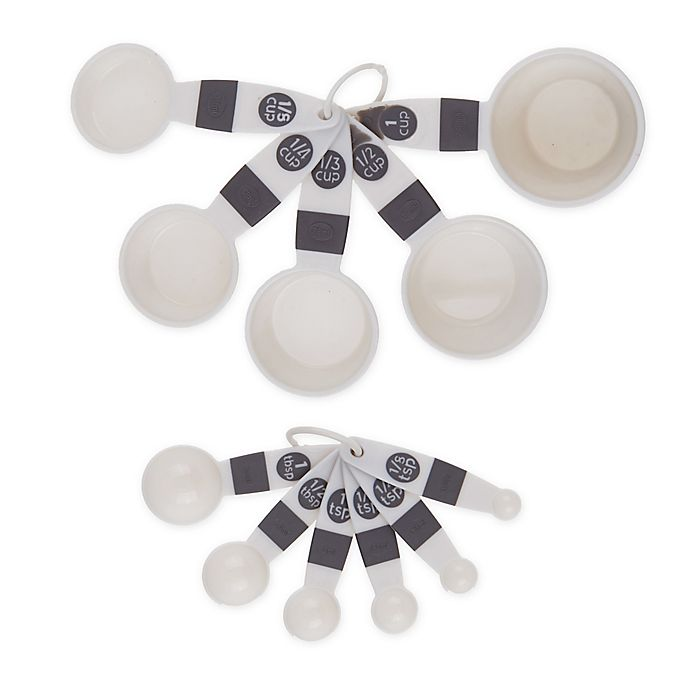Alternate image 1 for Simply Essential™ Plastic Measuring Utensils Collection in Grey