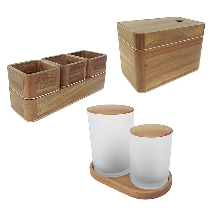 Alternate image 1 for Haven™ Acacia Cosmetic Storage Collection