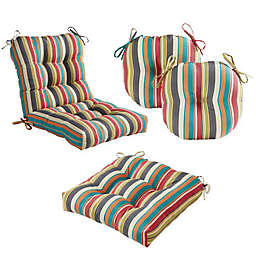 Greendale Home Fashions Stripe Outdoor Pillow and Cushion Collection