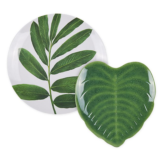 Alternate image 1 for W Home™ Palm Leaf Dinnerware Collection