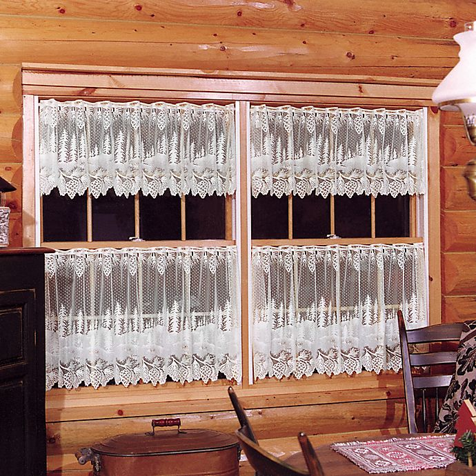 Alternate image 1 for Pinecone Window Valance in White
