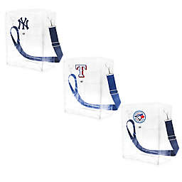 MLB Clear Ticket Satchel Bag with Colored Shoulder Strap Collection