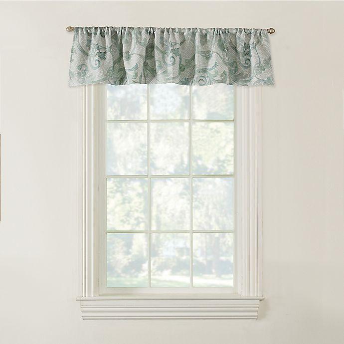 Alternate image 1 for Savona Bath Window Curtain Valance in Blue