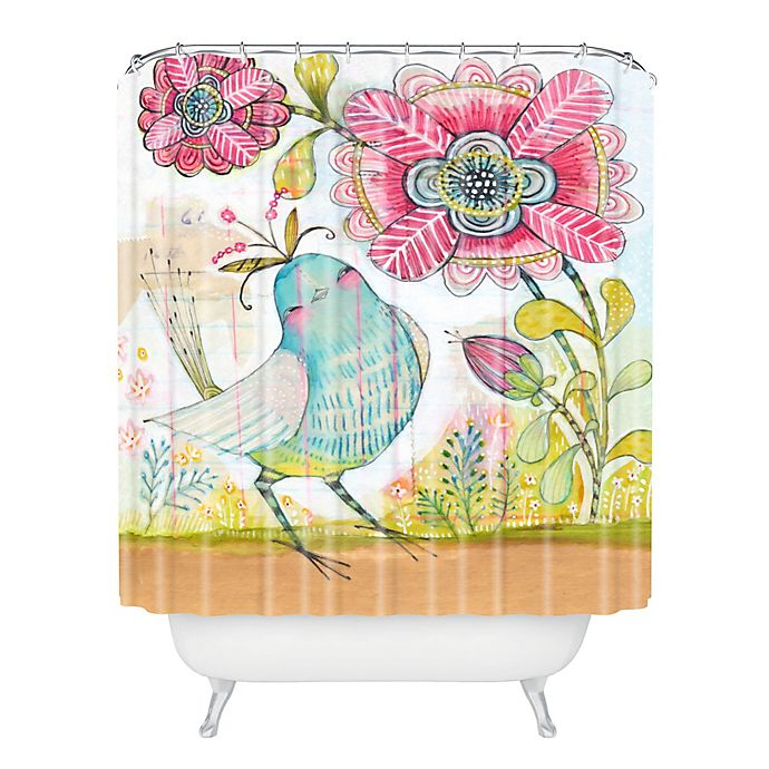Deny Designs Cori Dantini I Love You More Shower Curtain In