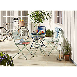 Destination Summer Folding Metal Patio Furniture Collection