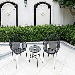 Destination Summer Round Wicker String Outdoor Furniture Collection