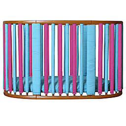 Go Mama Go Designs® Wonder Bumpers for Stokke Cribs in Fuchsia/Turquoise