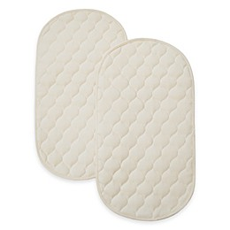 TL Care Waterproof Playard Changing Table Pads made with Organic Cotton Top Layer (Set of 2)