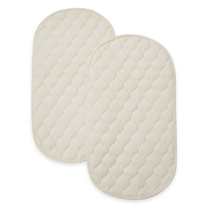 Alternate image 1 for TL Care Waterproof Playard Changing Table Pads made with Organic Cotton Top Layer (Set of 2)
