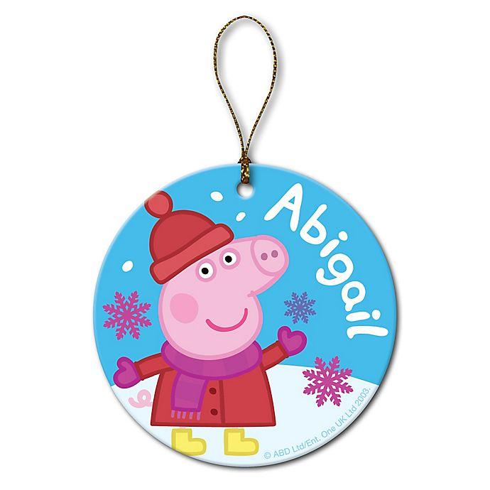 Alternate image 1 for Peppa Pig Snowflake Ornament