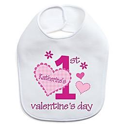 Her First Valentine's Day Bib