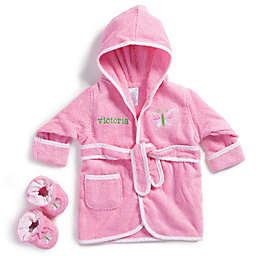 Size 0-9M Butterfly Bathrobe with Booties in Pink