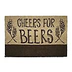 Cheers for Beers 18-Inch x 30-Inch Door Mat