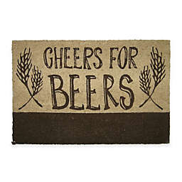 Cheers for Beers 18-Inch x 30-Inch Door Mat