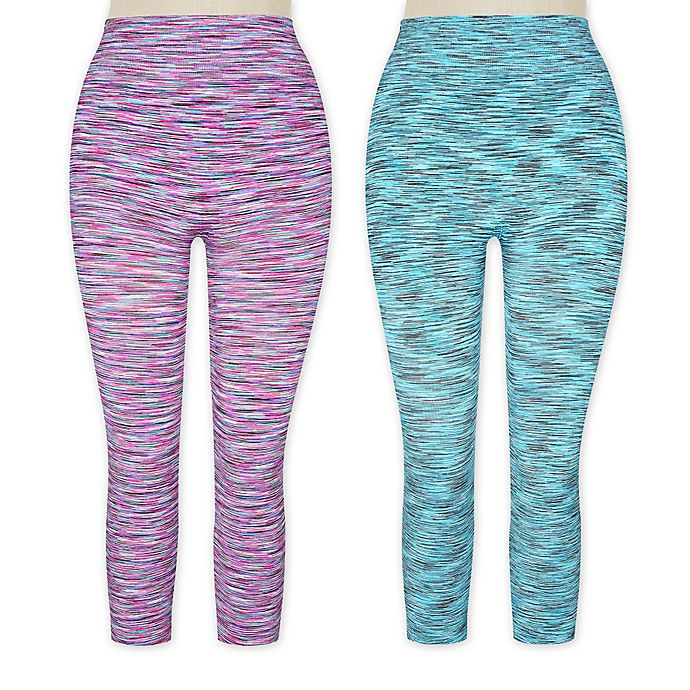 Capri Sportlegging.Women S Space Dye Capri Sport Legging Bed Bath And Beyond Canada