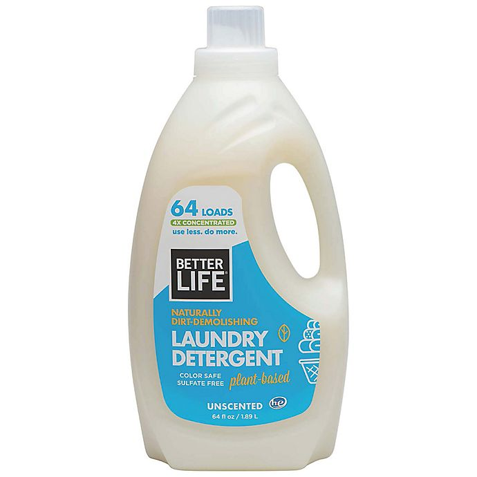 Alternate image 1 for Better Life® Naturally Dirt-Demolishing 64 oz. Unscented Laundry Detergent