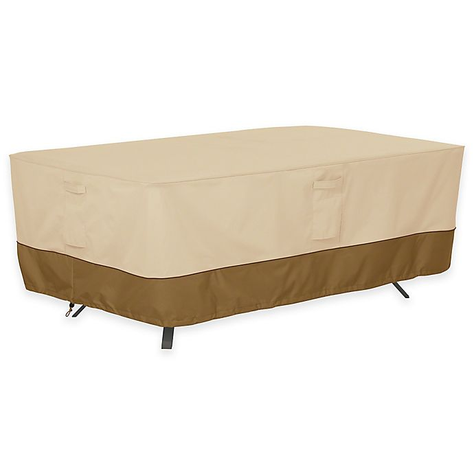 Alternate image 1 for Classic Accessories® Veranda Rectangle/Oval Patio Table Outdoor Cover