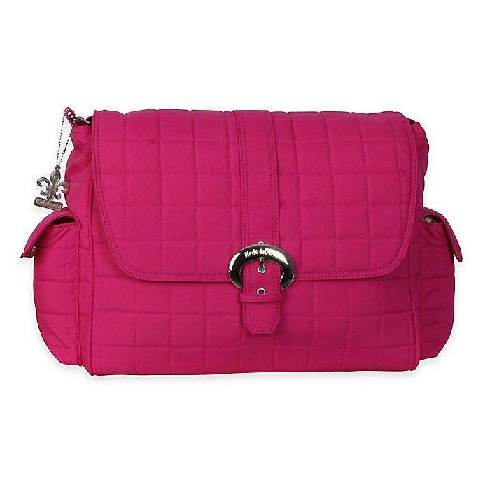 Alternate image 1 for Kalencom® Quilted Buckle Diaper Bag in Fuchsia