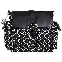 Kalencom® Double Duty Back Pack Diaper Bag in Black Holes
