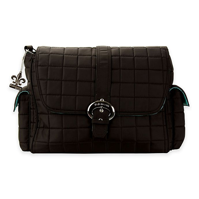 Alternate image 1 for Kalencom® Quilted Buckle Diaper Bag in Black