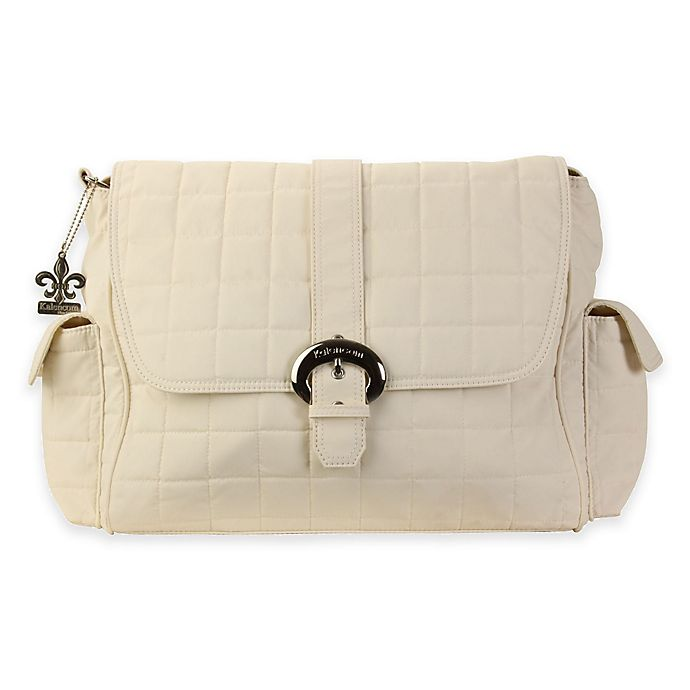 Alternate image 1 for Kalencom® Quilted Buckle Diaper Bag in Cream