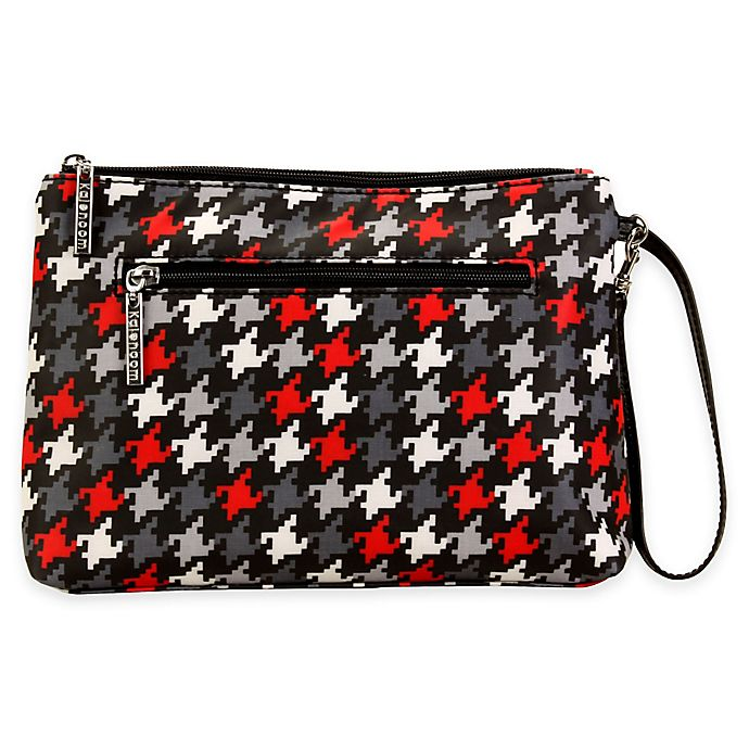 Alternate image 1 for Kalencom® Diaper Clutch in Red Houndstooth