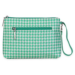 Kalencom® Diaper Clutch in Houndstooth Teal