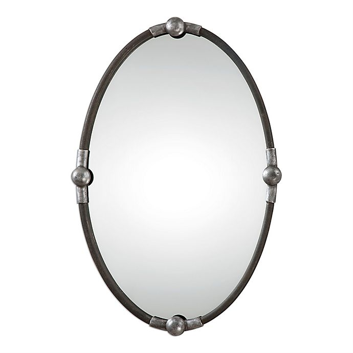 Alternate image 1 for Uttermost Carrick Oval Wall Mirror in Black/Silver