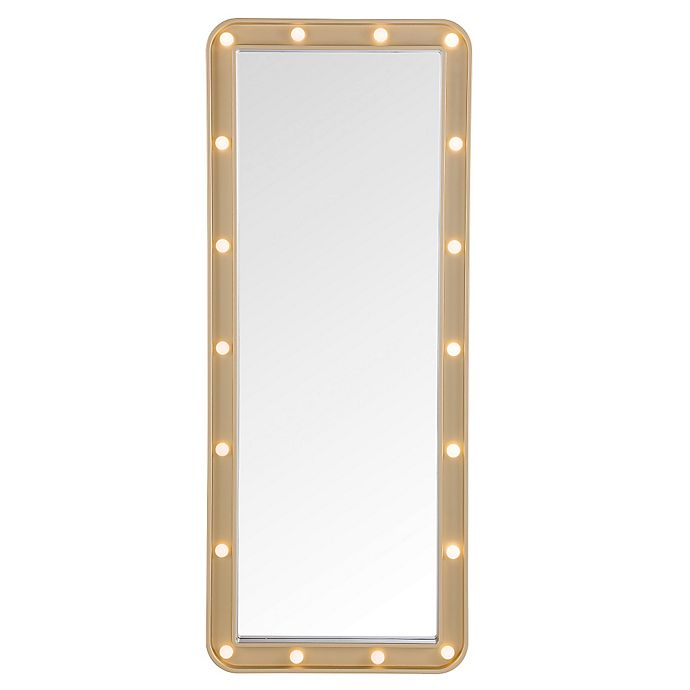 Alternate image 1 for Door Solutions™ LED Light-Up Over-The-Door Marquee Mirror