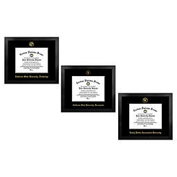 Collegiate Gold Foil Seal Diploma Frame Collection in Black