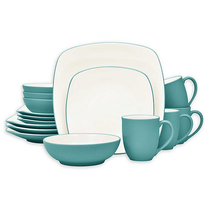 Alternate image 1 for Noritake® Colorwave Square 16-Piece Dinnerware Set