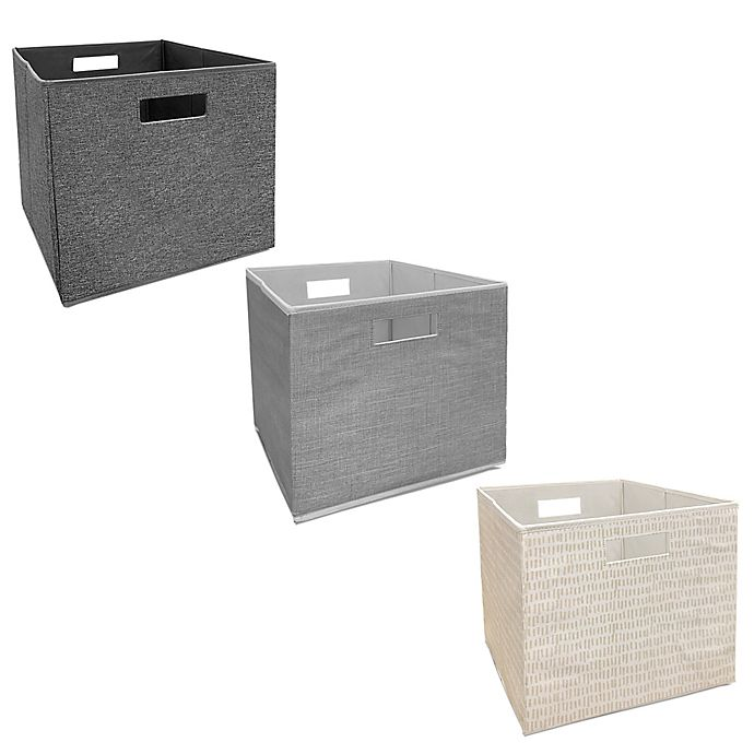 Alternate image 1 for Squared Away™ 13-Inch Collapsible Storage Bin Collection