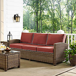 Crosley Bradenton Outdoor Wicker Conversation Sofa