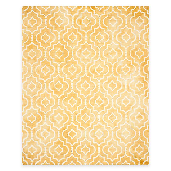 Alternate image 1 for Safavieh Dip Dye Moroccan Trellis 8-Foot x 10-Foot Area Rug in Gold/Ivory