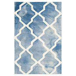 Safavieh Dip Dye Diamonds 2-Foot 6-Inch x 4-Foot Accent Rug in Blue/Ivory