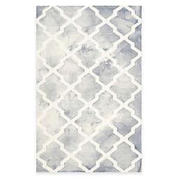 Safavieh Dip Dye Diamonds 6-Foot x 9-Foot Area Rug in Grey/Ivory