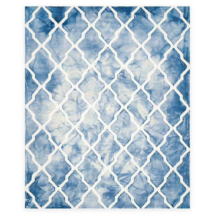 Alternate image 1 for Safavieh Dip Dye Diamonds 9-Foot x 12-Foot Area Rug in Blue/Ivory