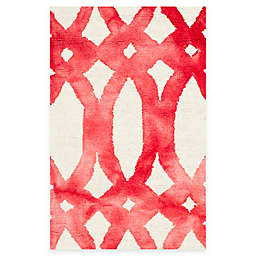 Safavieh Dip Dye Chain 2-Foot x 3-Foot Accent Rug in Ivory/Red