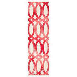 Safavieh Dip Dye Chain 2-Foot 3-Inch x 8-Foot Runner in Ivory/Red