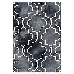 Safavieh Dip Dye Trellis 2-Foot x 3-Foot Accent Rug in Graphite/Ivory