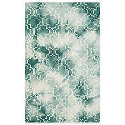 Safavieh Dip Dye Trellis 5-Foot x 8-Foot Area Rug in Green/Ivory