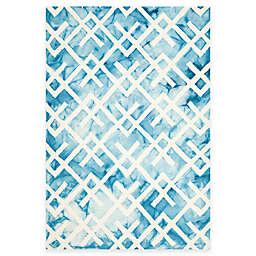 Safavieh Dip Dye Angles Rug in Blue/Ivory