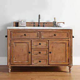 James Madison Furniture Copper Cove Single Vanity in Driftwood without Countertop