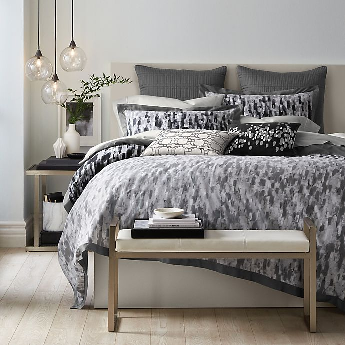 Alternate image 1 for Canadian Living Winnipeg Duvet Cover in Grey/Charcoal
