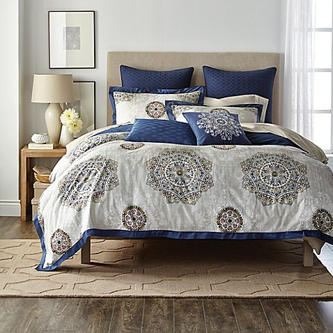 Canadian Living Bon Accord Duvet Cover in Gold/Blue