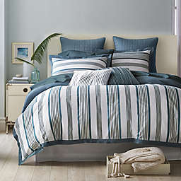 Canadian Living Swift Current Standard Pillow Sham in Blue/White