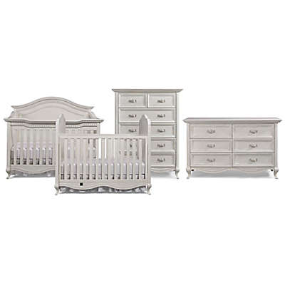 Bel Amore Lyla Rose Nursery Furniture Collection in White Willow