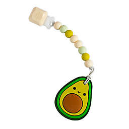 Loulou Lollipop® Avocado Teething Ring with Clip in Green